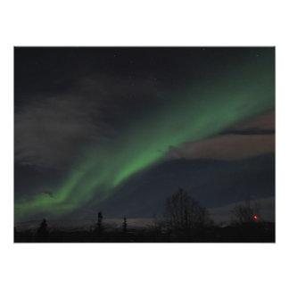 Ondas de la luz verde arte fotográfico
