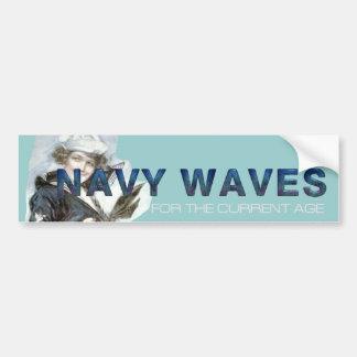 Ondas de la marina de guerra de la CAMISETA Pegatina Para Auto