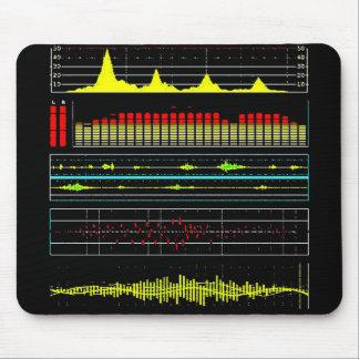Ondas de la música y Equalizer2 audio Alfombrilla De Ratón