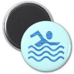 Ondas de la nadada imán redondo 5 cm