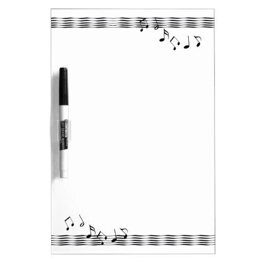 Ondas de la nota musical pizarra