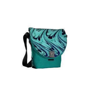 Ondas de la plata del verde azul del trullo de los bolsas messenger