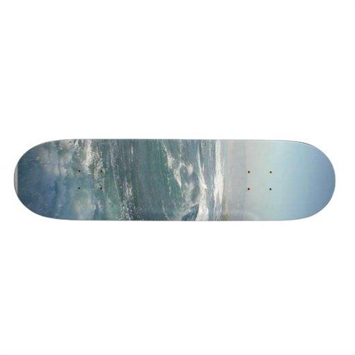 Ondas de la playa del océano de la ensenada de La  Patín Personalizado