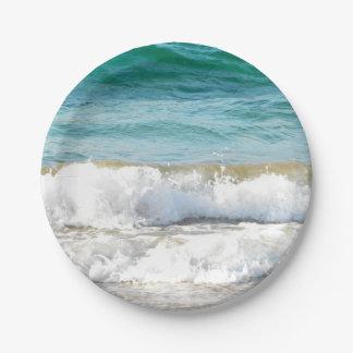 Ondas de la playa platos de papel