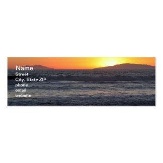 Ondas de la puesta del sol tarjetas de visita mini