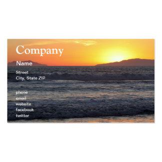 Ondas de la puesta del sol tarjetas de visita