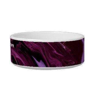 Ondas de la púrpura, cuenco del mascota boles para gatos