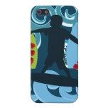 Ondas de la resaca del océano de la playa del tipo iPhone 5 cárcasas