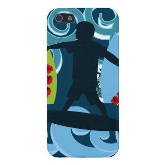 Ondas de la resaca del océano de la playa del tipo iPhone 5 protector