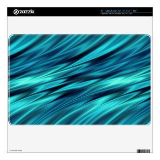 Ondas de la suavidad del Aquamarine Calcomanía Para El MacBook