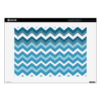 Ondas de los zigzags del azul de Chevron Portátil Calcomanías