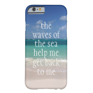 Ondas de motivación inspiradas de la cita del mar funda de iPhone 6 barely there