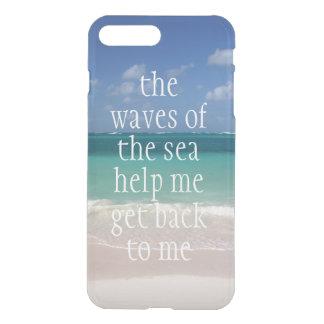 Ondas de motivación inspiradas de la cita del mar fundas para iPhone 7 plus