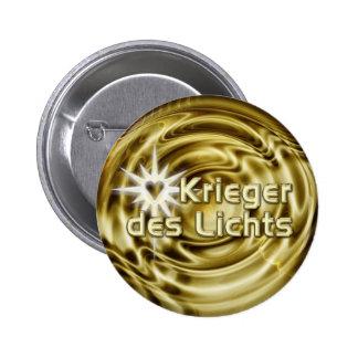 Ondas de oro del DES Lichts el   de Krieger Pin Redondo De 2 Pulgadas