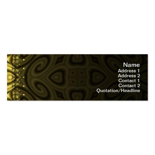 Ondas de oro grandes plantillas de tarjeta de negocio