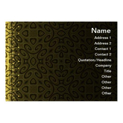 Ondas de oro pequeñas tarjetas de visita grandes