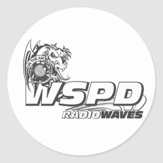ONDAS DE RADIO DE WSPD PEGATINA REDONDA