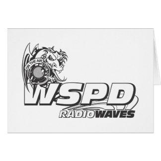ONDAS DE RADIO DE WSPD TARJETA DE FELICITACIÓN