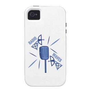 Ondas de radio vibe iPhone 4 carcasa