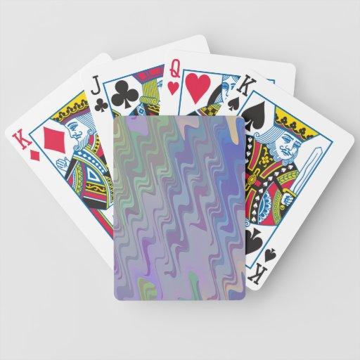 Ondas de verde y de la púrpura baraja de cartas bicycle