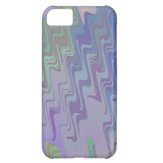 Ondas de verde y de la púrpura funda para iPhone 5C