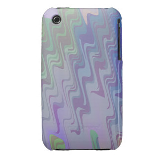 Ondas de verde y de la púrpura iPhone 3 protectores