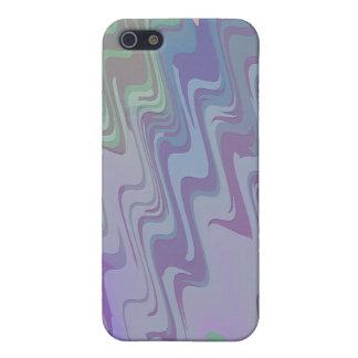Ondas de verde y de la púrpura iPhone 5 carcasa