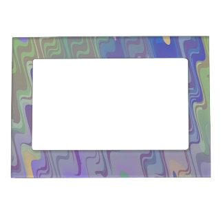 Ondas de verde y de la púrpura marcos magnéticos de fotos