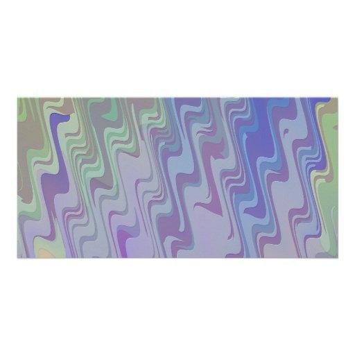 Ondas de verde y de la púrpura tarjeta personal