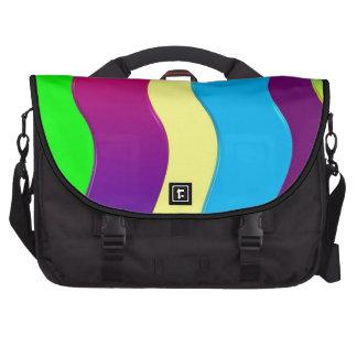 Ondas del arco iris bolsas para ordenador