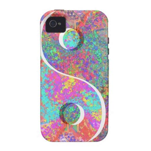 Ondas del arco iris de YinYANG - balanza de Yin Ya Case-Mate iPhone 4 Carcasa