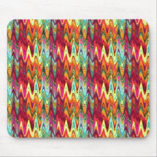 Ondas del arco iris tapetes de ratón