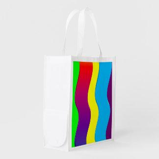 Ondas del arco iris bolsas para la compra