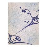 Ondas del azul del art déco del vintage
