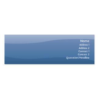Ondas del azul - flacas tarjetas de negocios