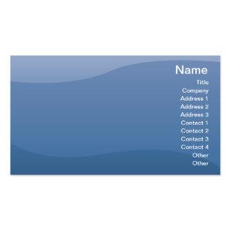 Ondas del azul - negocio plantillas de tarjetas personales