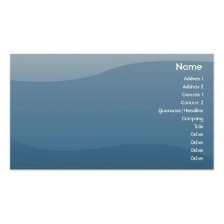 Ondas del azul - negocio tarjeta de visita
