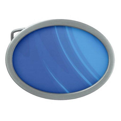 Ondas del azul real hebilla de cinturon