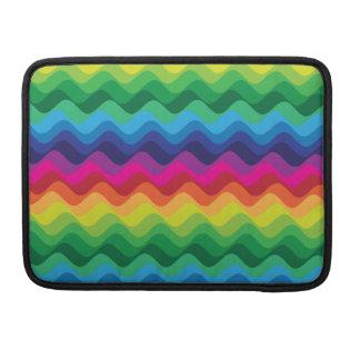 Ondas del color funda para macbooks