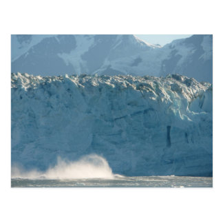 Ondas del hielo que truenan postal