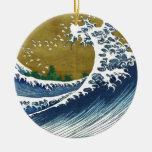 Ondas del japonés del vintage ornamento para reyes magos
