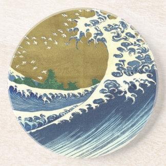 Ondas del japonés del vintage posavasos diseño