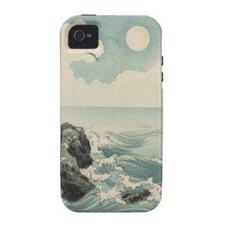 Ondas del japonés vibe iPhone 4 carcasa