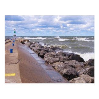 Ondas del lago Michigan Postales