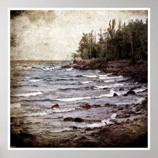 Ondas del lago Superior Impresiones