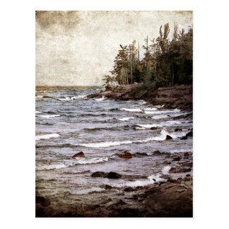 Ondas del lago Superior Tarjetas Postales