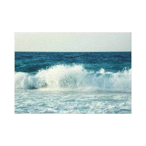 Ondas del mar impresion en lona