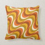 ondas del naranja de los años 60 almohadas