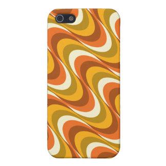 ondas del naranja de los años 60 iPhone 5 protector