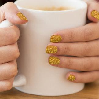 Ondas del oro del mango de los remolinos del pegatinas para uñas